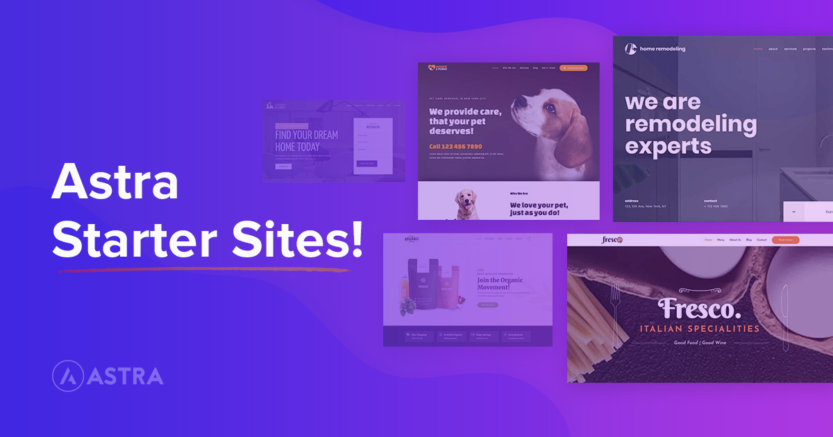 Astra Theme – Elementor Template Library