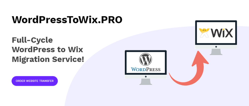 WordPress to WIX migration service