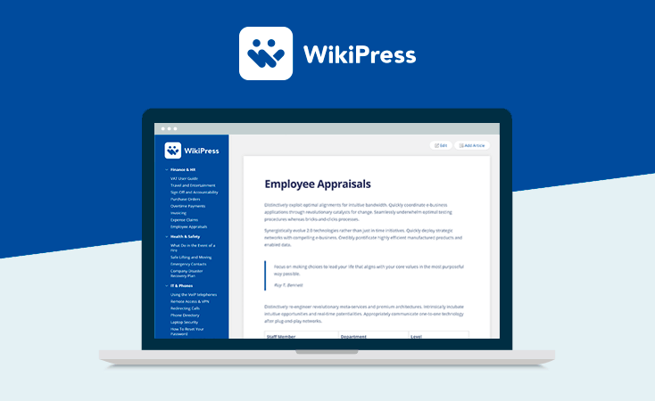 WikiPress - WordPress Wiki Theme