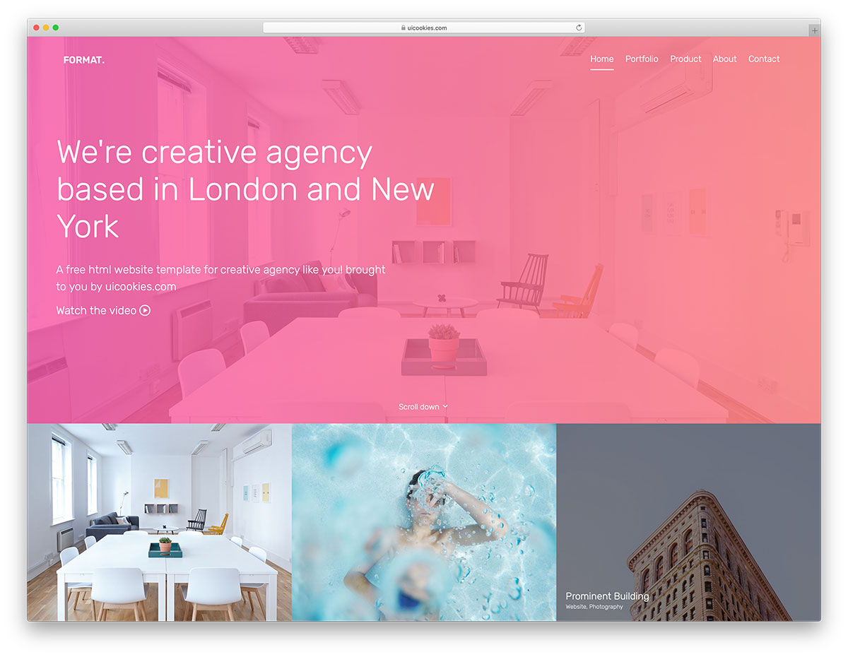 Format – Free Website Template Using Bootstrap For Portfolio