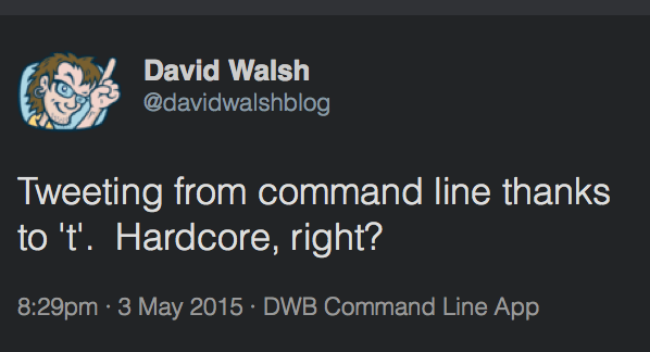 Tweet from Command Line