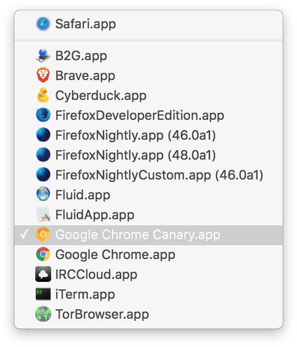 how to make google default browser on mac