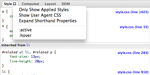 Firefox CSS Element State