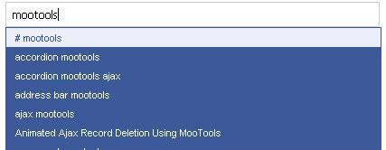 MooTools' AutoCompleter Plugin