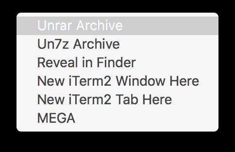 Create Context Menu Items in Mac Finder