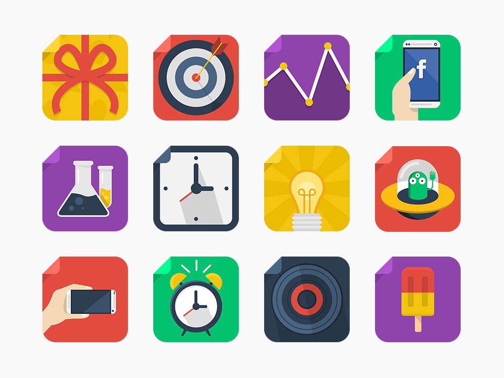 5. Flat Icons