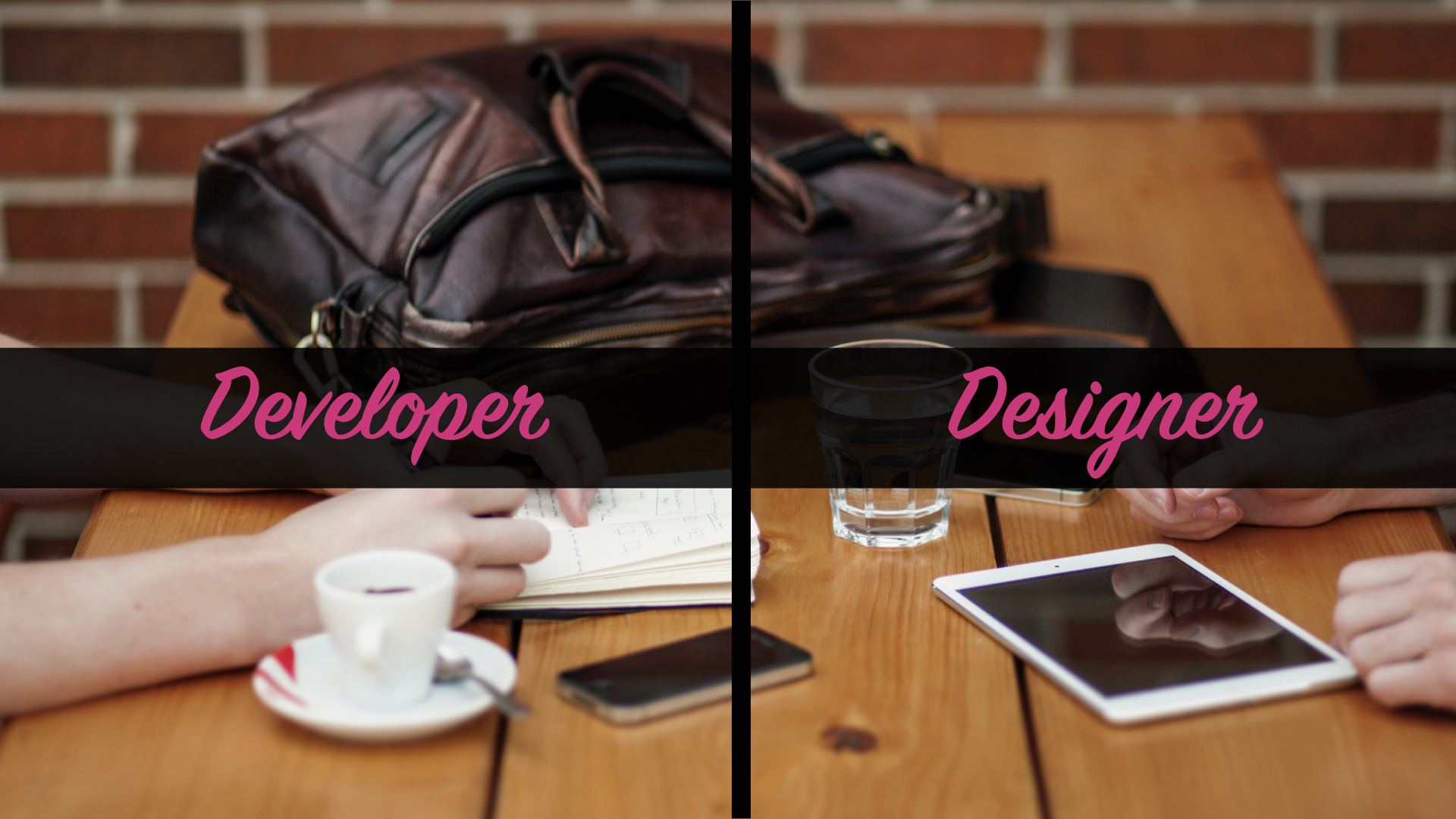 Developer versus designer.