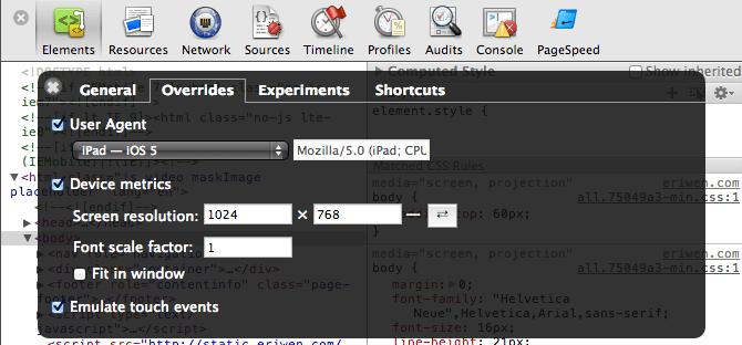 Chrome Dev Tools - Overrides