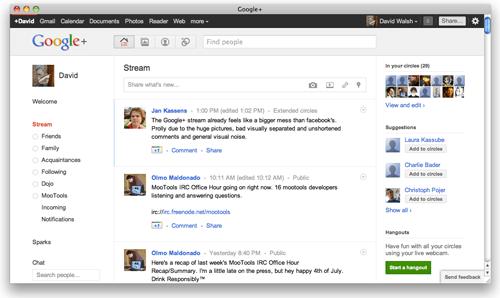 Google Plus Browser