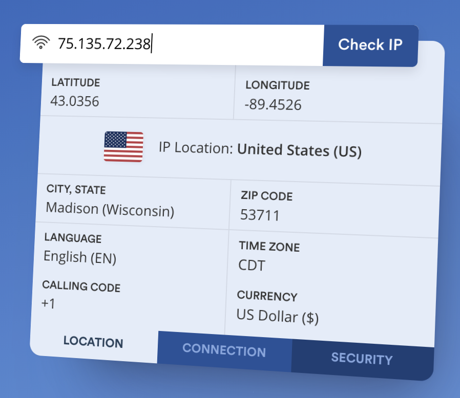 Real-time Geolocation & Reverse IP Lookup with ipapi
