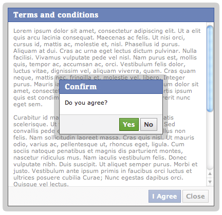 Facebook Dialog MooTools