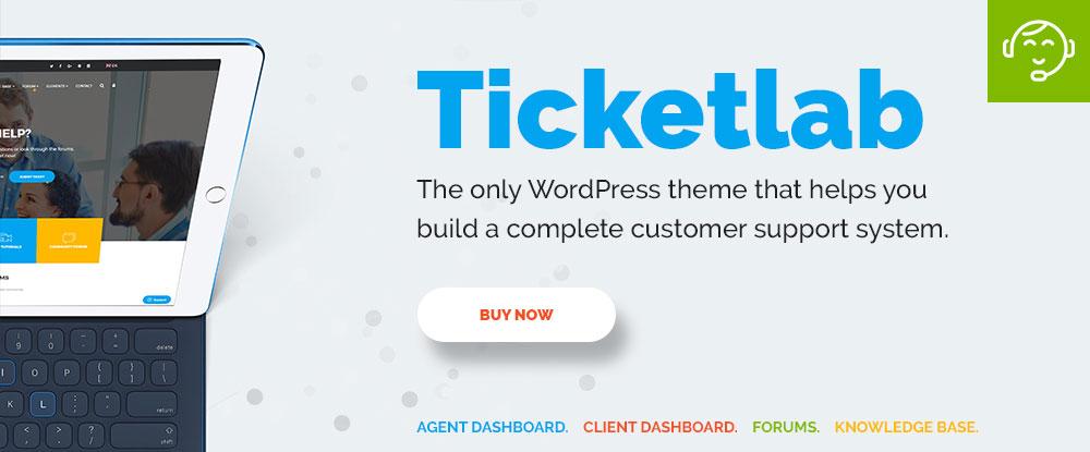 TicketLab - Advanced Helpdesk and Ticketing WordPress Theme