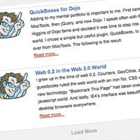 MooTools ScrollSpy Load More