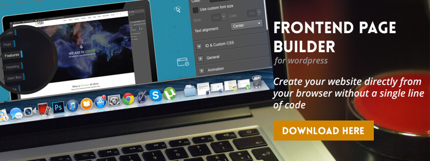 FrontEnd Page Builder