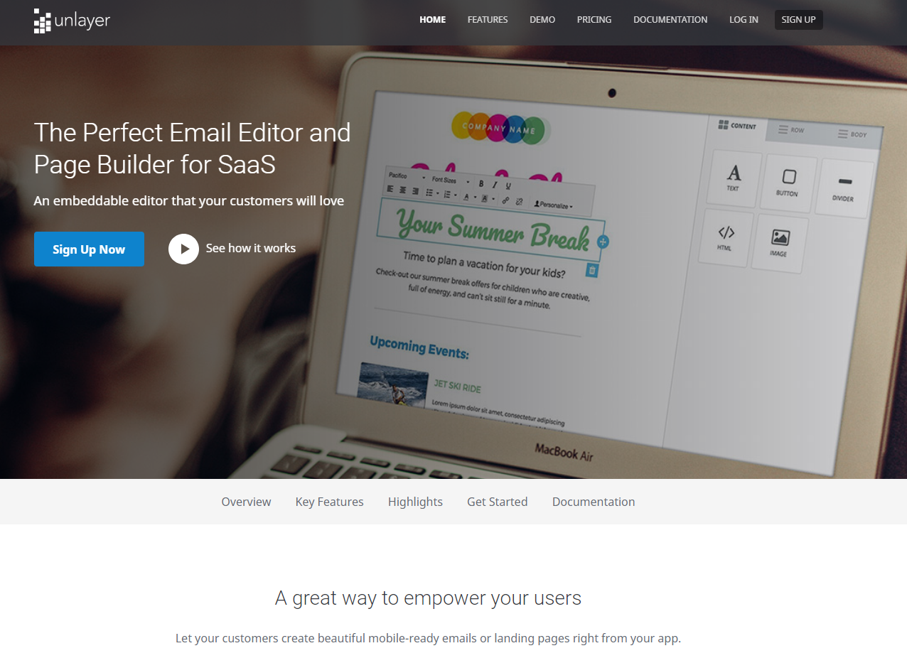 Unlayer - Email Editor