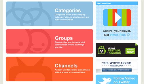 Vimeo Homepage