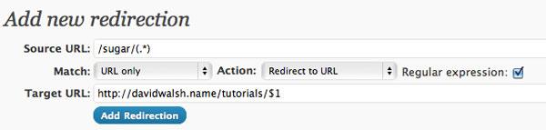 WordPress Redirection